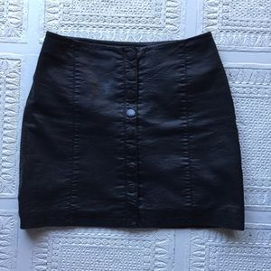 Free People Oh Snap button up skirt